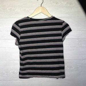 Divided Tops - DIVIDED H&M Striped Crop Top Tee